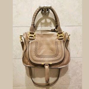 Chloe Marcie Medium Satchel Handbag in Nut